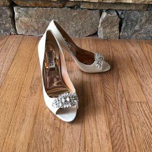 Badgley Mishka ivory shoes